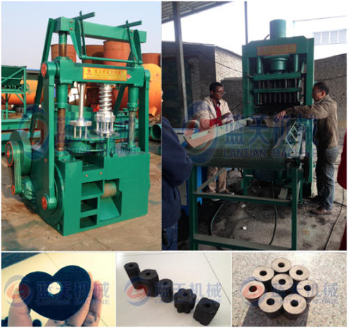 Coal charcoal briquette machine