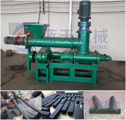 Charcoal extruding machine