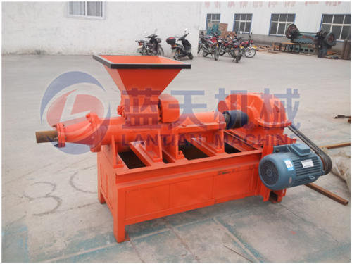 Coal extruding briquette machine