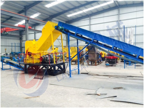 Scrap electric wire crusher